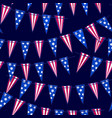 ink hand drawn seamless pattern with american flag vector image