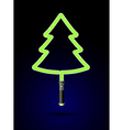 Light sword in form of Christmas tree Brilliant vector image vector image