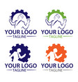 logo collection work vector image vector image