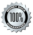 money back guaranteed label vector image vector image