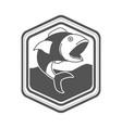 monochrome silhouette diamond shape emblem vector image vector image