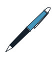 pen icon in color blue sections silhouette vector image vector image