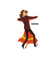 professional dancer couple dancing foxtrot pair vector image vector image