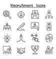 recruitment career job icon set in thin line vector image vector image