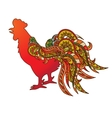 rooster symbol 2017 on vector image