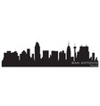 San antonio texas skyline detailed silhouette