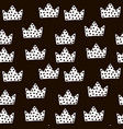 seamless black and white pattern with crowns vector image vector image