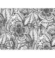 seamless pattern with hand drawn fancy vector image vector image