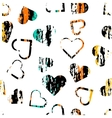 Seamless universal pattern Grunge texture Hearts vector image vector image