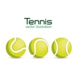 set ball tennis sport graphic vector image