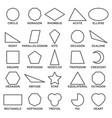set basic geometric shapes advance vector image