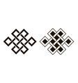 set celtic knots traditional celtic ornament vector image