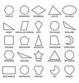 set of basic geometric shapes advance vector image