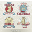 set of Christmas emblems vector image vector image