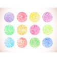 set of pastel watercolor circles vector image vector image