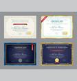 set templates diploma currency border vector image