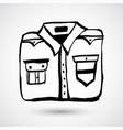 shirt grunge icon hand-drawn doodle cartoon vector image
