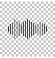 Sound waves icon Dark gray icon on transparent vector image vector image