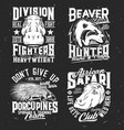 sport team and hunting club mascot t-shirt print vector image vector image