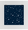 starry sky poster on wall eps 10 vector image vector image