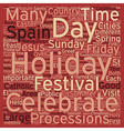 Summer Holidays In Spain text background wordcloud vector image vector image