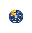 teamwork logo design template vector image vector image