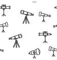 telescope icon seamless pattern vector image vector image