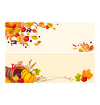 thanksgiving background with space for text two vector image vector image