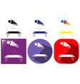 Trampoline jumping icon in three designs vector image vector image