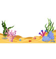 underwater world marine life vector image