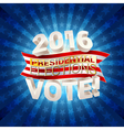 USA presidential elections background vector image