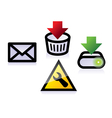 various pictures of icons for web vector image vector image