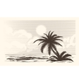 Vintage palm tree sketch vector image vector image