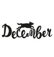 wild animal and lettering word - december running vector image