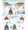 winter landscape and winter activities vector image