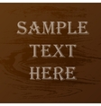 Wood texture text vector image vector image