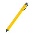yellow pen icon flat style vector image vector image