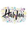 Print for T-shirt Hawaii vector image