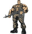 armed strong soldier vector image