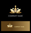 gold lotus flower beauty logo vector image
