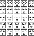 Icons of smiley emotion faces vector image