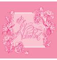 valentine pink card 380 vector image