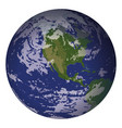 planet earth isolated on white vector image