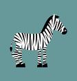 Zebra Wild animals of Africa Striped zebra Zebra vector image