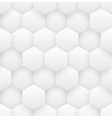 3d hexagons white abstract seamless pattern vector image