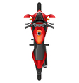 A topview of a motor bike vector image vector image