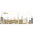 Abstract Dublin Skyline vector image vector image