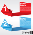 Abstract origami banners with number EPS10 vector image vector image