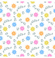 abstract seamless pattern with flowers and leaves vector image vector image