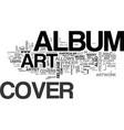 album cover art part two text word cloud concept vector image vector image